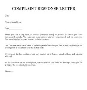 complaint response letter | Adam The Teacher