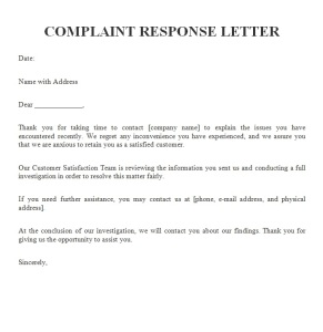 Effective Written Responses to Customer Problem Situations - How to Handle Customer Complaints