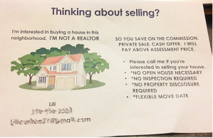 So You Have A Few Houses For Sale