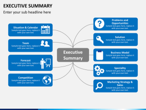 Winning Business Plan Executive Summary Presentation Tips