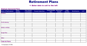 7 Things You Need To Select The Right Retirement Plans